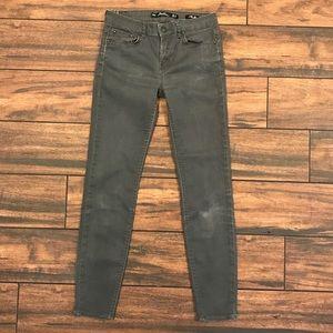 Zara Distressed Gray Denim Pants